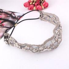 Women Bohemian Fashion Faux Pearl Wrap Hair Accessories Headband Lace Hairband