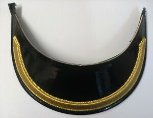 "Genuine British Made Senior Officer 5/8"" Gold Mylar Dress Cap Peak X1 PEK040"