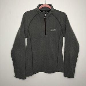 Mens REGATTA GREAT OUTDOORS Casual Grey Fleece Zip Jumper Size S - Small