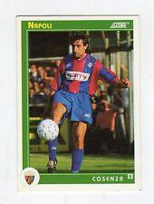 figurina card - CALCIATORI CARD SCORE 1993  - numero 390 NAPOLI COSENZA