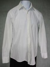 "Men's White Check Shirt by Jack Reid 16"" Collar Rich cotton Regular Fit"