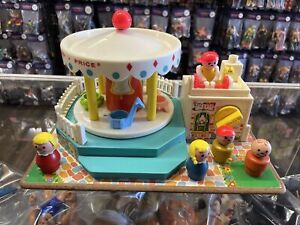 Fisher Price Little People Merry-Go-Round SWISS Music Box Vintage Complete Works
