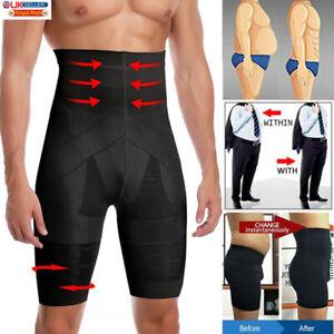 Men Slimming Body Shaper Waist Trainer Belly Control Panties Underwear Shorts UK
