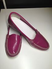 JIL SANDER Patent Leather Flat Loafers Women Shoes 38.5  8.5