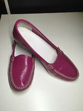 JIL SANDER PATENT LEATHER FLAT LOAFERS SHOES 38.5  8.5