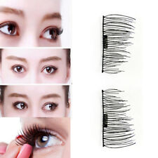 4 Pcs/2 Pairs 3D Magnetic False Eyelashes No Glue Natural Extension Eye Lashes