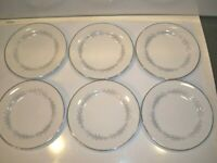 6 VINTAGE NORITAKE CAVALIER BREAD AND BUTTER PLATES  6 3/8''