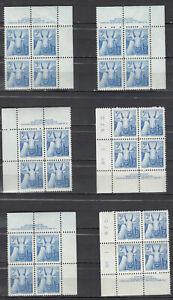 Canada MINT NH Selection of Scott#361 Plate Blocks study