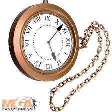 Giant Medallion Jumbo Clock Watch Fancy Dress Book Adults Kids Costume Accessory