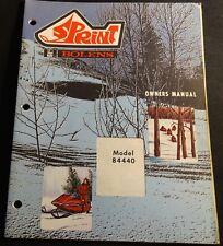 VINTAGE 1972 BOLENS SPRINT SNOWMOBILE OWNERS MANUAL 84440 (716)