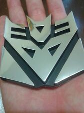 3D Chrome Decepticon Transformers Emblem Badge Decal Car Stickers(Fast Shipping)
