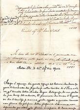P492-TOSCANA-3 DOCUMENTI MANOSCRITTI 1778 SULLA STRADA BOLOGNESE