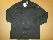 "Mens Chef 24/7 Revival Coat dining cooking cook sz M Md Med 40"" - 42"" Nwt black"