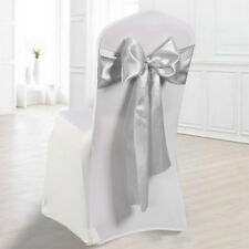 "25/50 Pcs Satin Chair Sash Ribbon Bow 7""x108"" Event Wedding Party Banquet Decor"