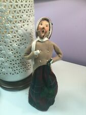 Byers Choice The Carolers Grandmother Long Plaid skirt with Coin and Purse Rare
