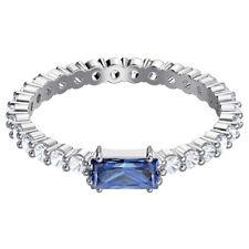 Swarovski 5441197 Vittore Ring, Blue, Rhodium Plating, Size 58 RRP$119