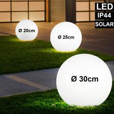 3er Set LED Solar Kugel Steck Lampen weiß Hof Garten Erdspieß Außen Leuchten
