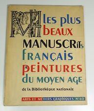 A.M.G n°60 Les plus beau manuscrits français à peintures du moyen âge de la B.N.