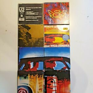 U2 Achtung Baby Singles 8 CDs Stay Real Thing Remixes