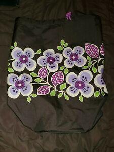 NWT ~ VERA BRADLEY ~ Laundry Bag ~ PLUM PETALS ~ Duffel Travel College/Dorm💜🍇