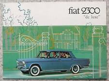 FIAT 2300 DE LUXE Car Sales Brochure c1964 #2000