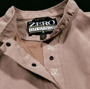 Zero Restriction Golf Beige Quarter Button Vest Jacket Size M Medium Women's