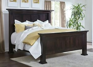 IN STOCK - Amish Traditional Post Bed Dentil Molding Solid Wood King Empire