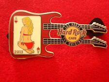HRC HARD ROCK CAFE Las Vegas Lady of Aces Guitar 2013 Hearts le300 double neck