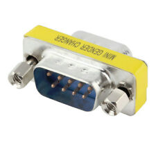 Brand New Gender Changer 9 Pin Pins Male to Male M/M Serial RS232 Adapter PC DB9