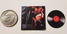 "Dollhouse Miniature Record Album 1"" 1/12 scale Barbie George Michael Faith Music"