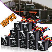 10 PACK HARNESS + RELAY Bosh 5pin SPDT 30/40 AMP 12V DC + 2 YR WARRANTY