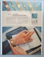 1952 Elgin Watches 1950s Holbrook Lord Elgin Lady Gaylord Photo Vintage Print Ad
