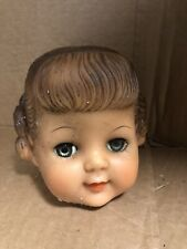 Doll Rubber Vinyl Head Eyes Open and Shut