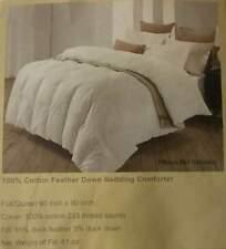 Bluestone 100% Cotton Feather Down Bedding Comforter Queen 90in x 90in