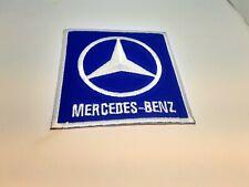 patch ecusson thermocollant brodé 8cm Mercedes benz bleu