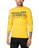 YR Mens T-Shirt Yellow Size 2XL Reckless Los Angeles Crew Graphic Tee $35 #076