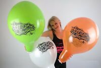 "3 x große TUFTEX 17"" Luftballons HAPPY HALLOWEEN *WHITE*GREEN*ORANGE*BALLOON*"