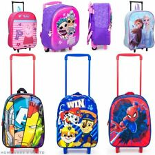 CHILDREN SUITCASE TROLLEY PULL ALONG BAG LUGGAGE TRAVEL FROZEN 2 AVENGERS DISNEY