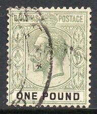 BAHAMAS SG89 1912-19 £1 Dull Green-Black