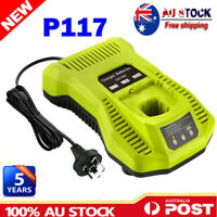 P117 Fast Charger for Ryobi ONE+ P108 Li-ion NI-CD NIMH Dual-chem Battery 12-18V