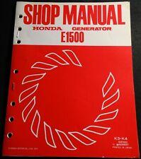1978 HONDA PORTABLE GENERATOR E1500 SHOP SERVICE MANUAL (712)