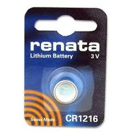 Renata Swiss Made Lithium CR1216 Cell Coin Button Battery 3V use Watch Key x 1
