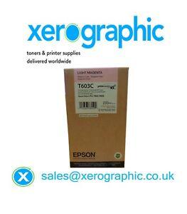 Genuine Epson Light Magenta Ink Cartridge Stylus Pro 7800,9800,T603C /C13T603C00