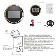 52mm GPS Digital 0-999 Knots Speedometer Gauge For Car Truck Motorcycle Marine