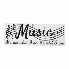 Removable Music Is Not Musical Notes Room Decor Art Vinyl DIY Wall Decal St Q2S3