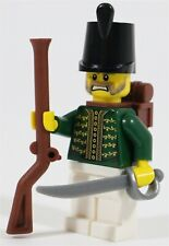 LEGO IMPERIAL RUSSIAN ARMY SOLDIER MINIFIGURE GREEN COAT - MADE OF GENUINE LEGO