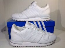 Adidas Mens Size 8 ZX 700 White Athletic Running Shoes Sneakers ZI-750