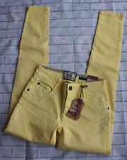 Drift King Superior Grade Denim Skinny Jeans Yellow Sz 28W x 34L NWT Urban