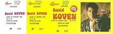 RARE / TICKET DE CONCERT LIVE - DAVID KOVEN A REIMS ( FRANCE ) JANVIER 1989