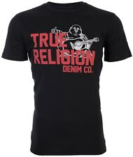 True Religion Mens S/S T-Shirt BUDDHA APPROVED Designer BLACK Jeans S-3XL $69
